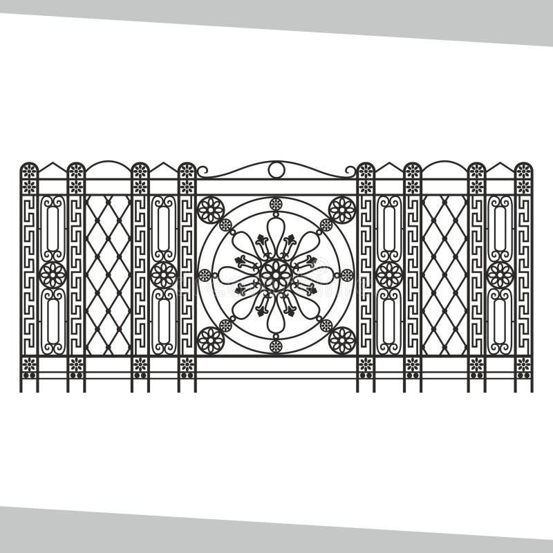 Siersmeedijzer, die op wit geïsoleerde achtergrond schermen royalty-vrije illustratie