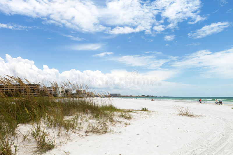 Siesta Key Beach Sarasota Florida. Siesta Key Beach is located on the gulf coast of Sarasota Florida with powdery sand. Recently rated the number 1 beach stock images