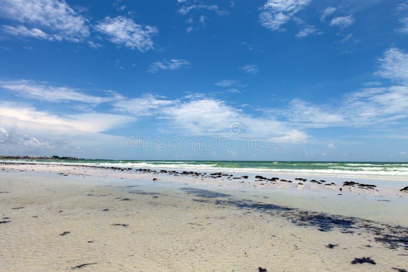 Siesta-Schlüsselstrand Sarasota Florida lizenzfreie stockfotos