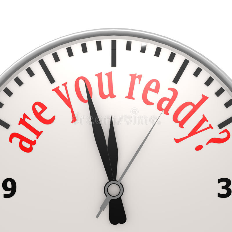 Siete aspettate l'orologio illustrazione vettoriale