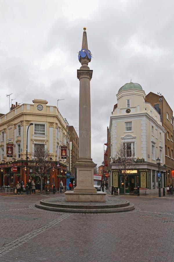 Siete diales Londres imagen de archivo libre de regalías
