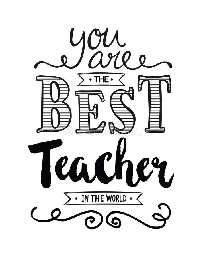 Siete il migliore insegnante nel mondo royalty illustrazione gratis