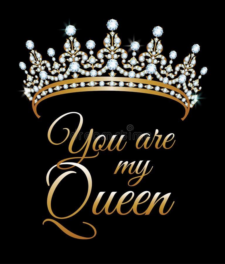 Siete la mia regina illustrazione di stock