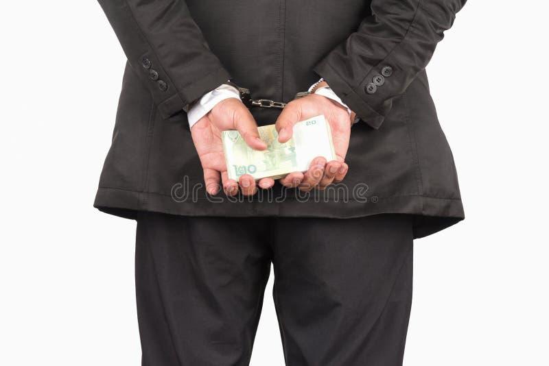 Siete nell'ambito dell'arresto fotografia stock