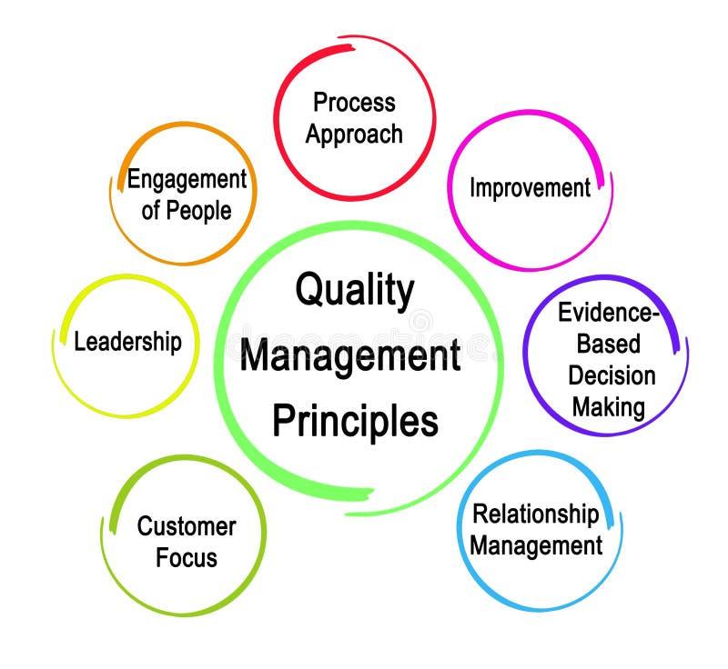 Siete principios de gestión de calidad libre illustration