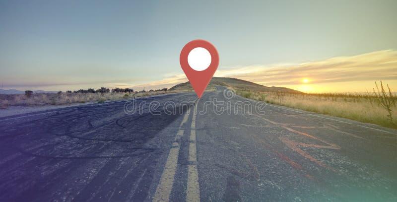 Siete qui indicatore della navigazione fotografie stock libere da diritti