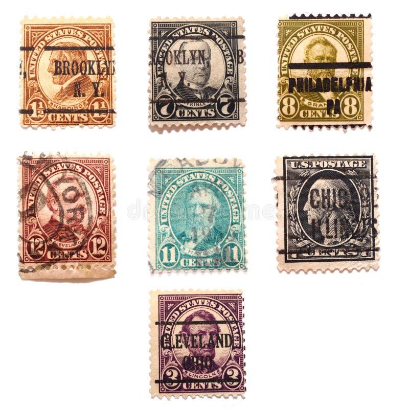 Siete sellos de los presidentes de los E.E.U.U. fotos de archivo libres de regalías