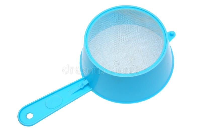 Sieve. Kitchen ware, sieve on a white background stock photo