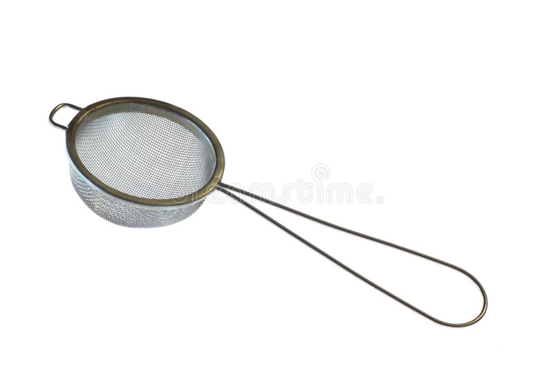 Sieve. Is kitchen accessory to separate substances royalty free stock image