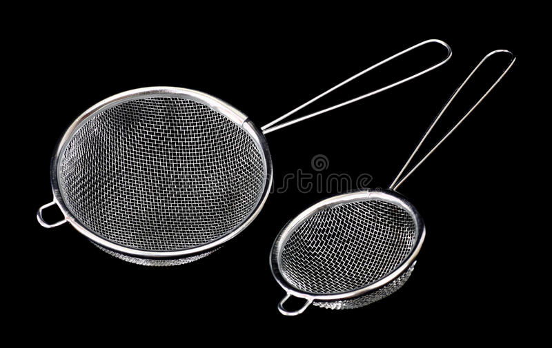 Sieve On A Black Background Stock Photography