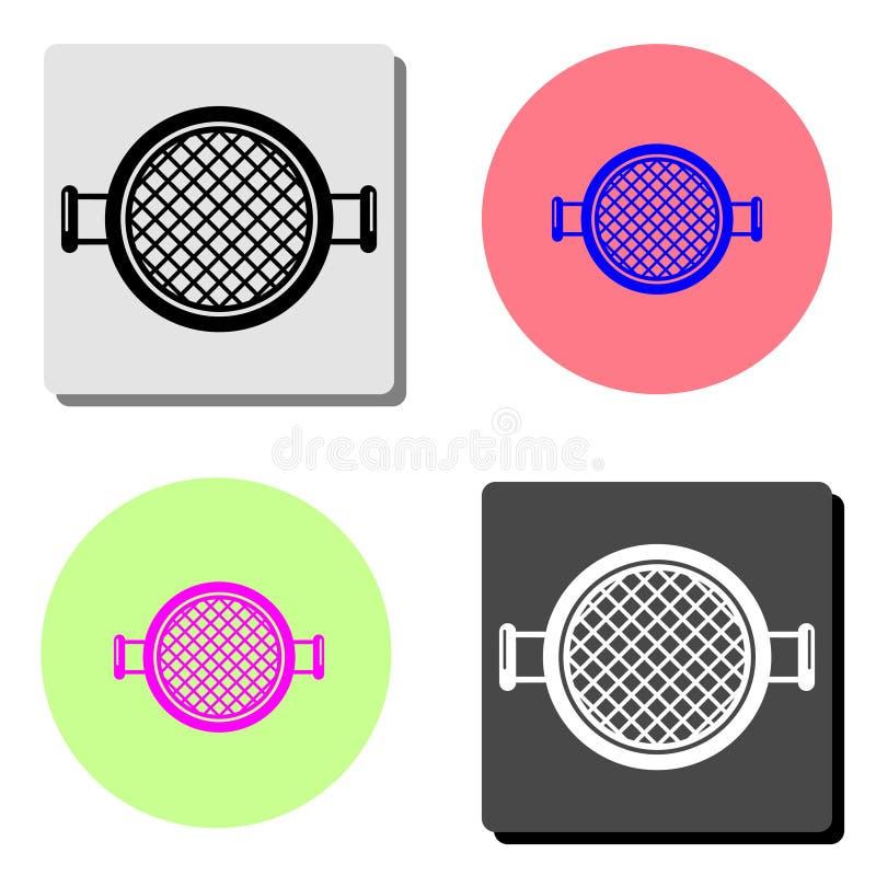 sieve. flat icon vector illustration