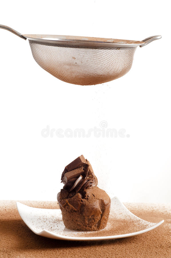 Sieving coco powder