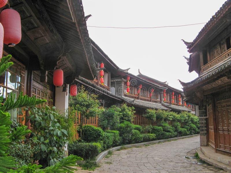 Sifang gata i lijiang, yunnan, Kina royaltyfria foton