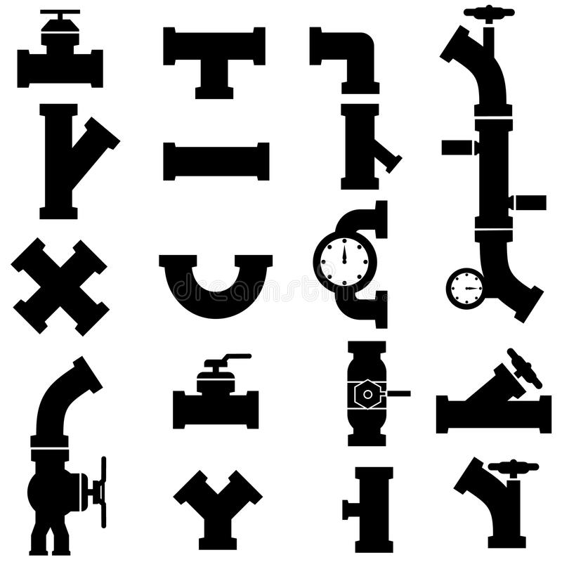 Siffle des icônes illustration stock