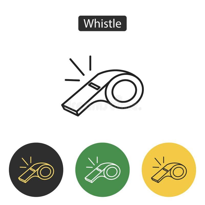 Sifflement d'icône d'arbitre illustration de vecteur