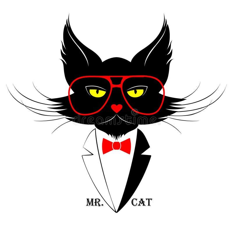 Sig. Cat illustrazione di stock