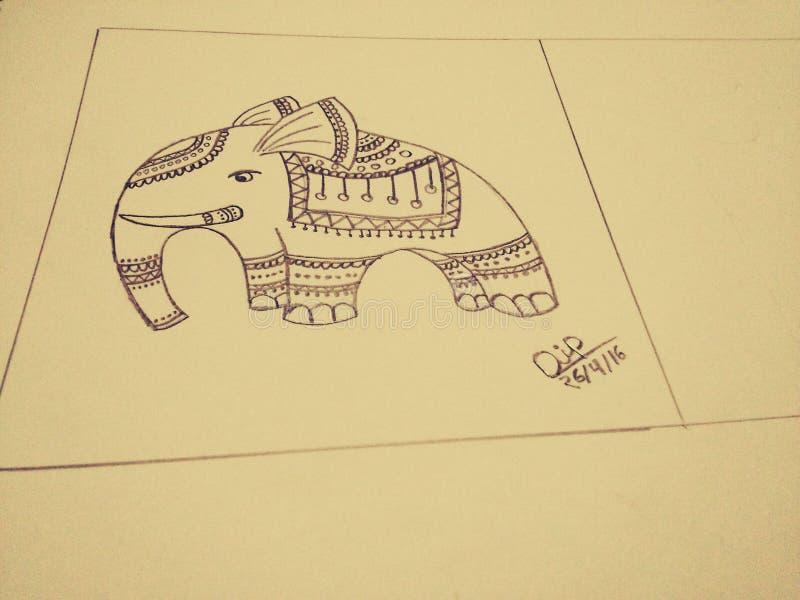 Sig. Elefante fotografie stock