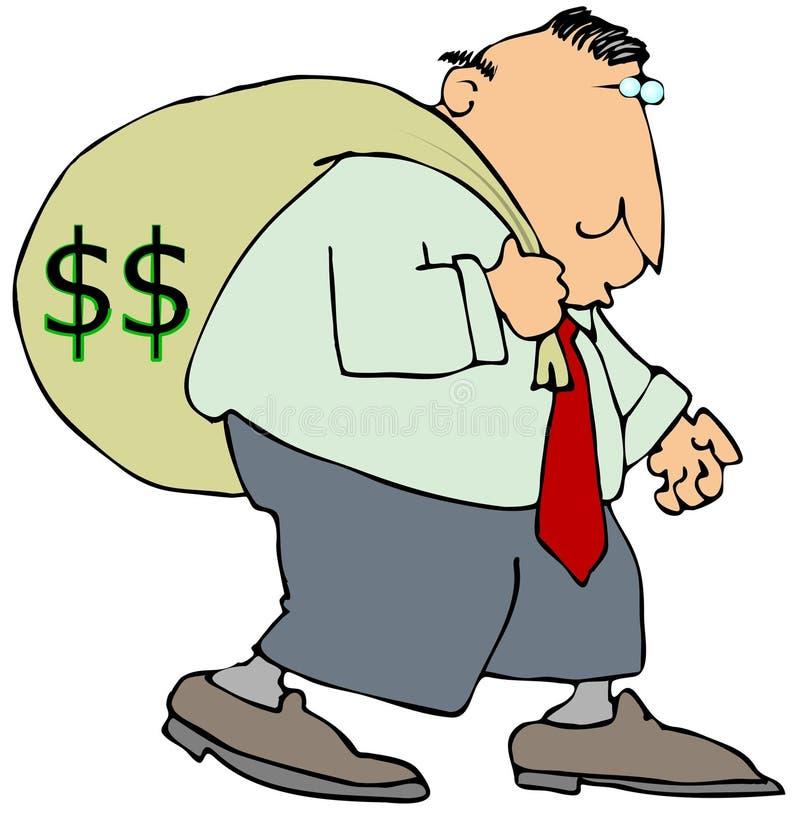 Sig. Moneybags illustrazione vettoriale