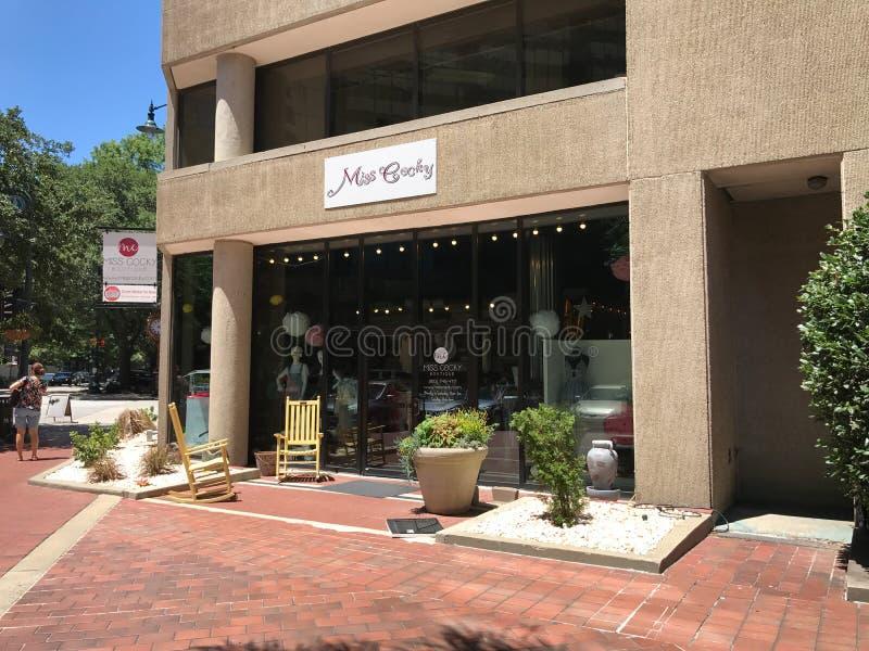 Sig.na Cocky Boutique, Main Street, Colombia, Carolina del Sud immagini stock libere da diritti