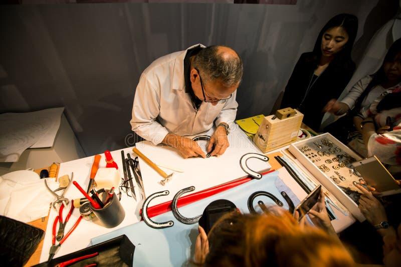 Sig.na Dior Exhibition in Cina fotografia stock