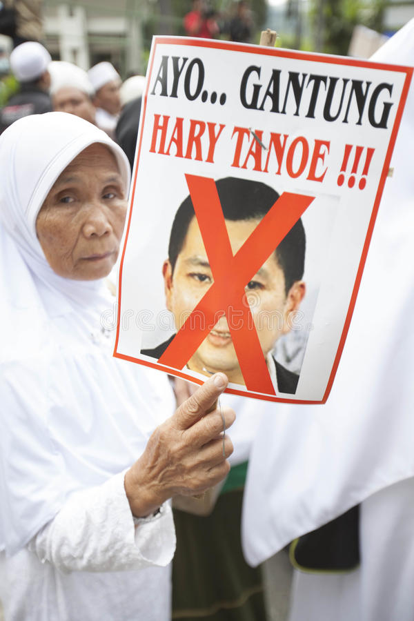 Sig.na World Event di Againts di dimostrazione in Indonesia immagine stock