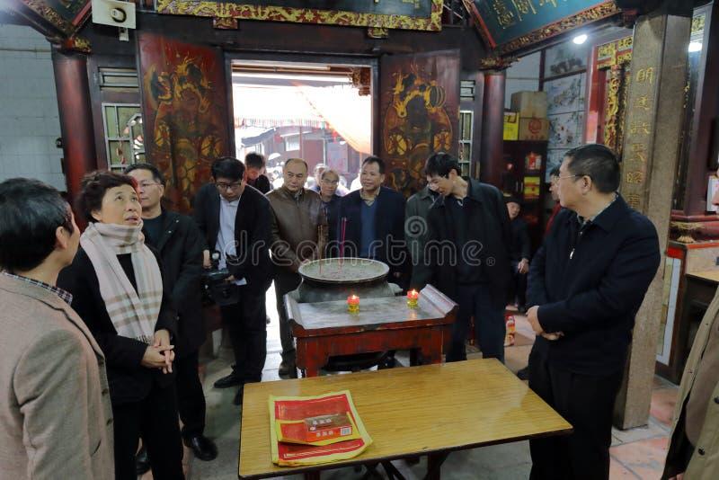 Sig.ra che huangling il tempio visitato del chiwanggong del taoist fotografia stock libera da diritti