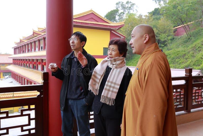 Sig.ra che huangling il tempio visitato di brahma fotografia stock