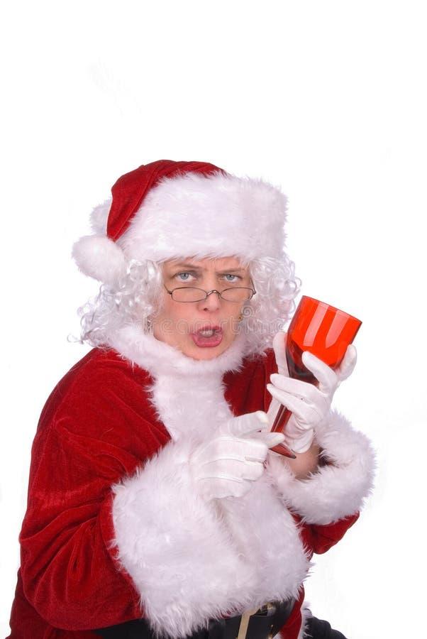 Sig.ra Claus potabile fotografia stock