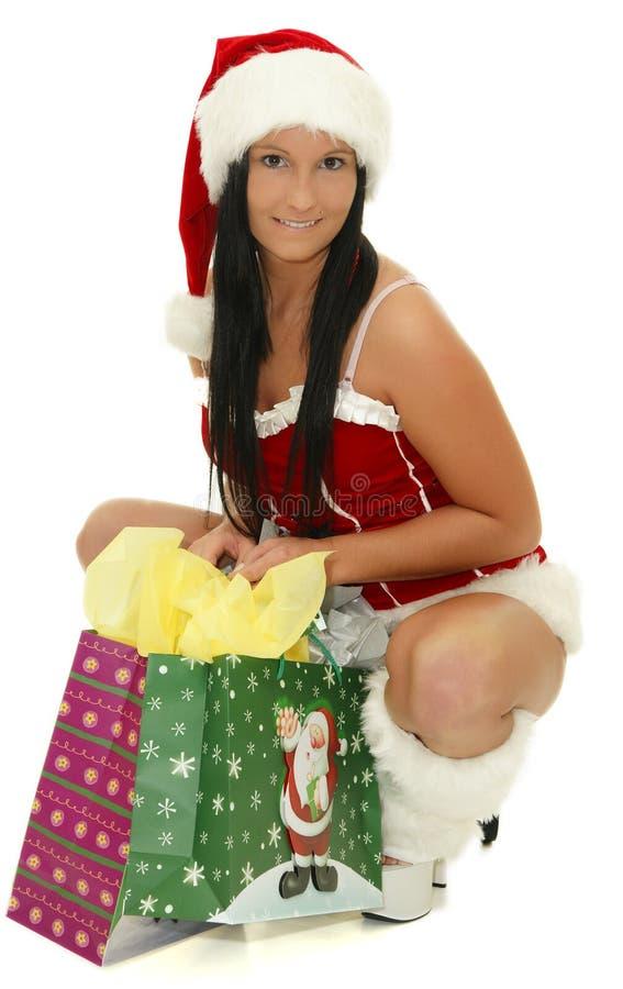 Sig.ra il Babbo Natale fotografia stock