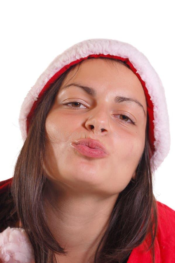 Sig.ra il Babbo Natale del ritratto immagini stock