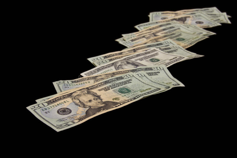Siga el rastro del dinero fotografía de archivo libre de regalías