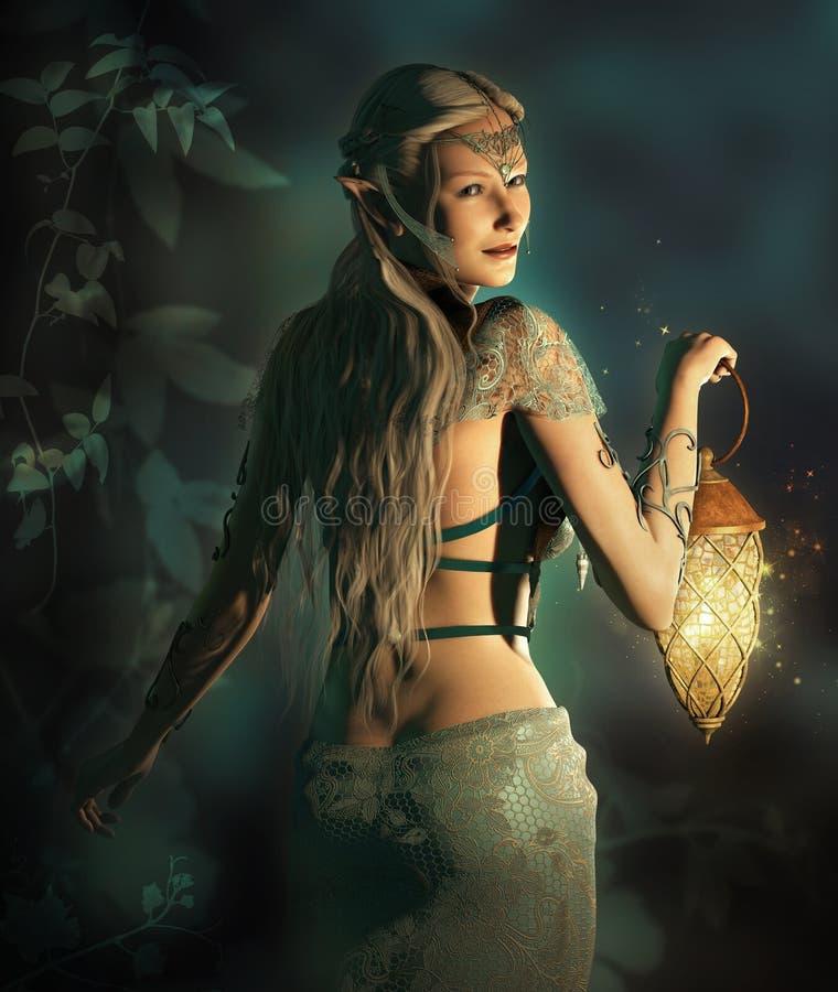 Siga-me no reino da floresta ilustração royalty free