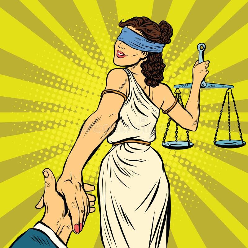 Siga-me, Themis conduz à corte ilustração royalty free