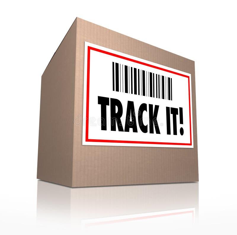 Siga-o exprime a logística de seguimento da expedição do pacote ilustração royalty free