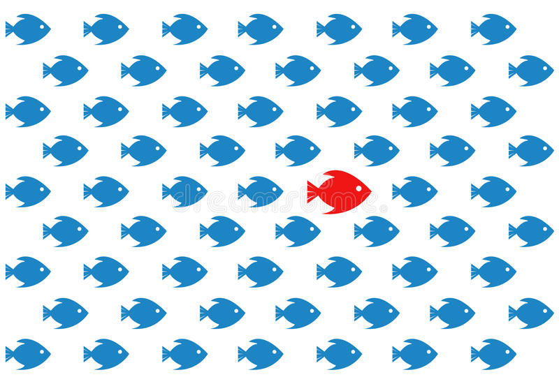 Siga o líder conceito do diagrama de teste padrão ilustração stock
