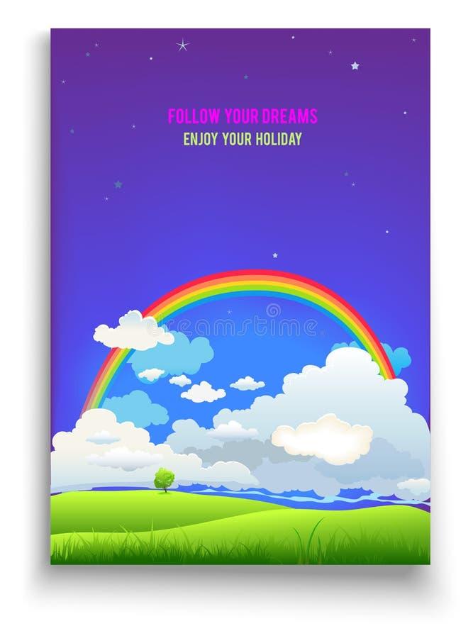 Siga seu cartão dos sonhos ilustração stock