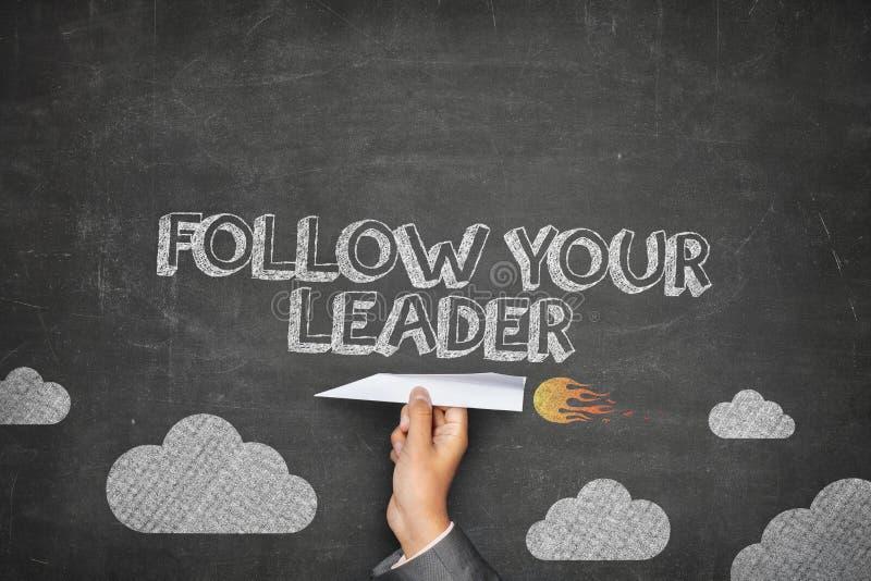 Siga seu conceito do líder imagens de stock