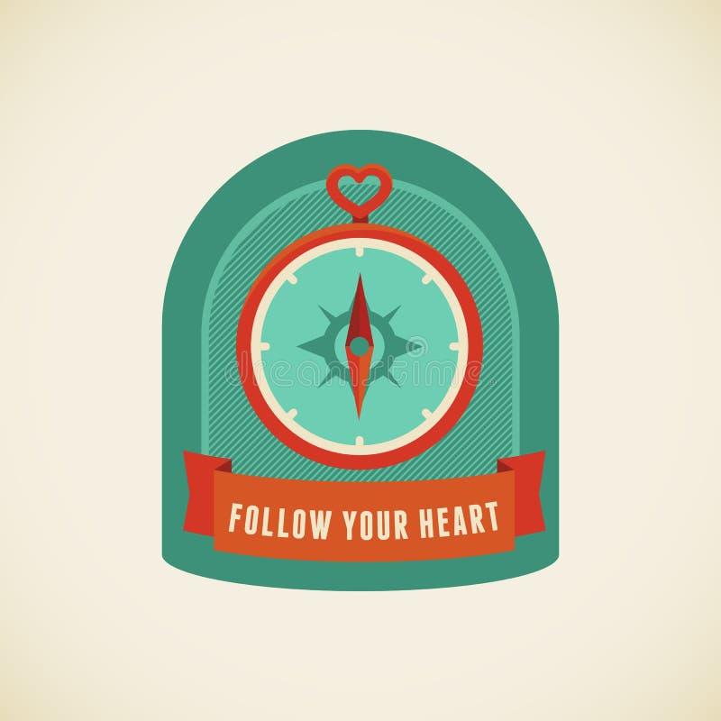 Siga seu coração ilustração royalty free
