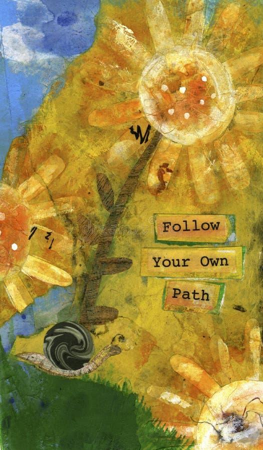 Siga seu próprio trajeto 2 ilustração do vetor