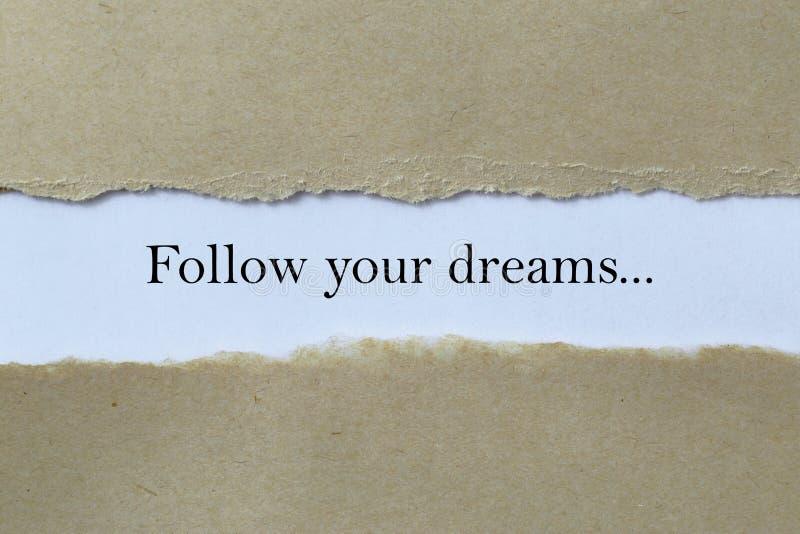 Siga su dirección de los sueños imágenes de archivo libres de regalías