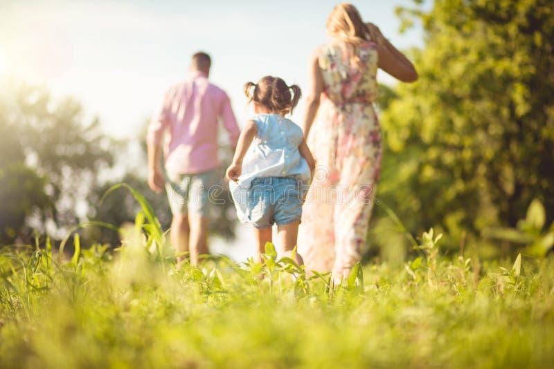 Siga su vida del canal de los padres imagen de archivo
