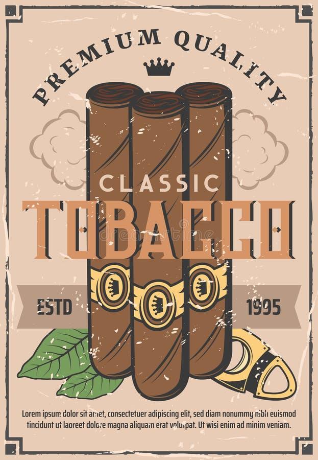 Sigarenproductie en tabaksbedrijfswinkel vector illustratie