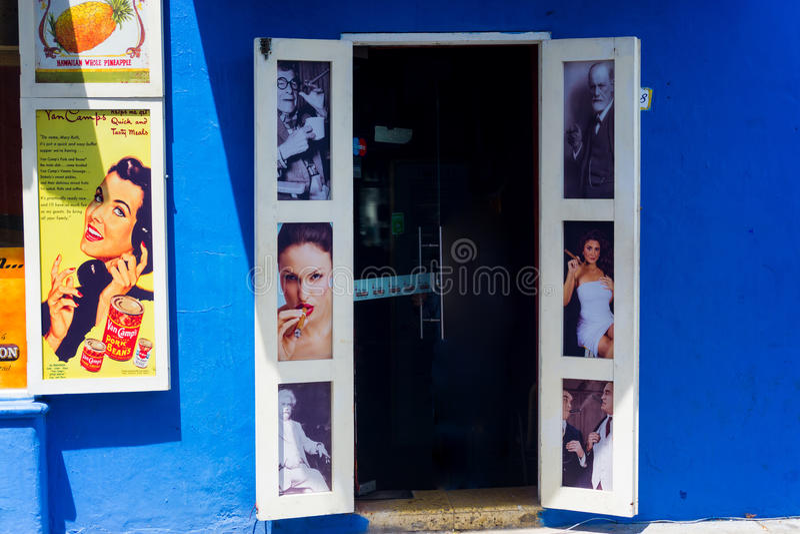 Sigarenwinkel in Cartagena royalty-vrije stock foto's