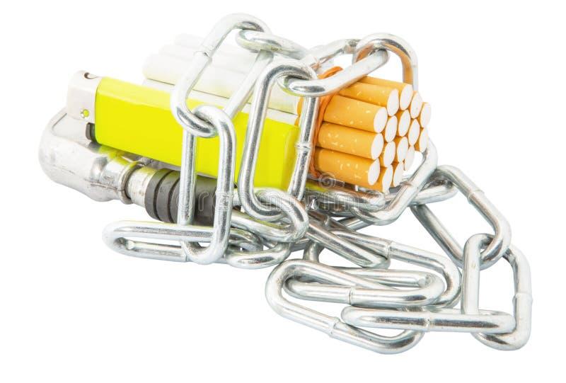 Sigaret, Aansteker en Kettingen III stock foto