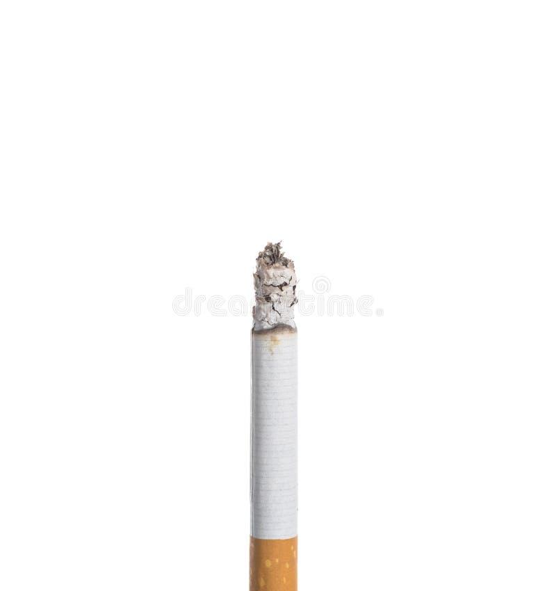 Sigaret geïsoleerd branden royalty-vrije stock afbeeldingen