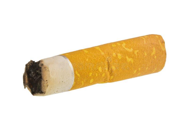 Sigaret op een witte achtergrond wordt geïsoleerd die royalty-vrije stock foto