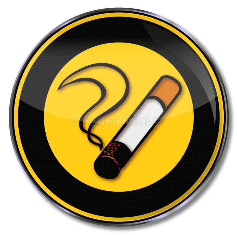 Sigaret, tabak en het roken stock illustratie