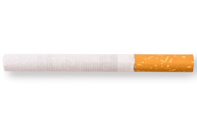 Sigaretta isolata in primo piano dettagliato fotografia stock