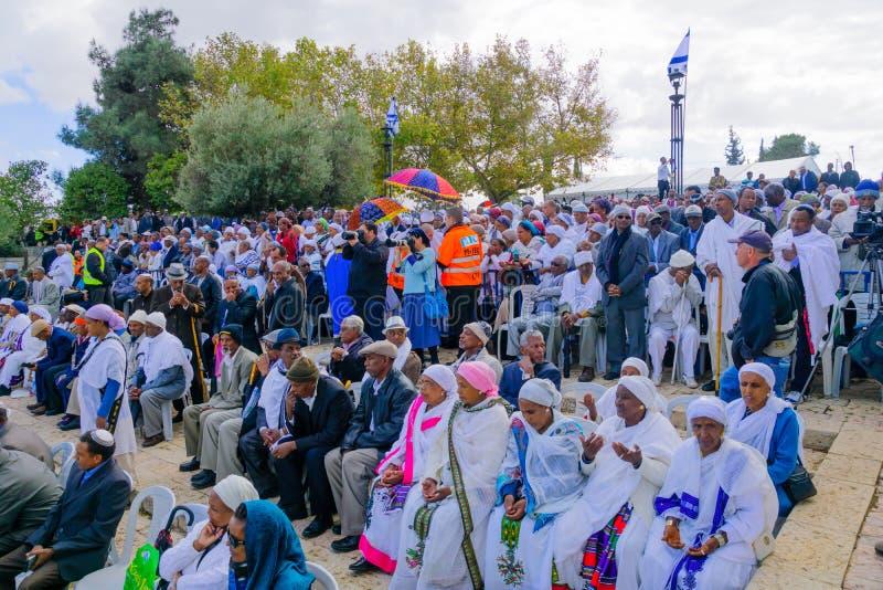 Sigd 2015 - día de fiesta del pueblo judío etíope fotos de archivo