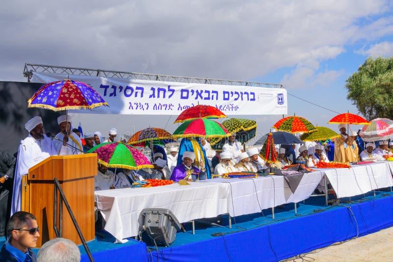 Sigd 2015 - día de fiesta del pueblo judío etíope fotografía de archivo